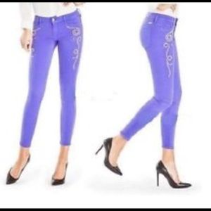 Marciano Guess Gold Studded Blue Skinny Jeans 27